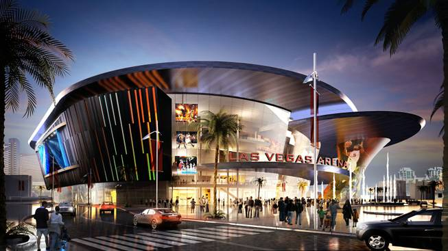 Artist rendering of the proposed Las Vegas Arena Foundation project.