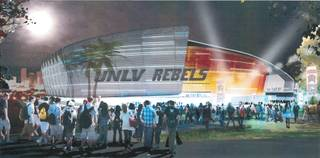 Artist rendering of the proposed UNLV Now project.