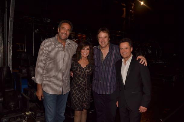 Brad Garrett, Marie Osmond, Kevin Nealon and Donny Osmond at the Flamingo.
