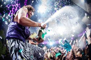 Redfoo of LMFAO at Party Rock Mondays at Marquee in the Cosmopolitan of Las Vegas on Monday, July 9, 2012.