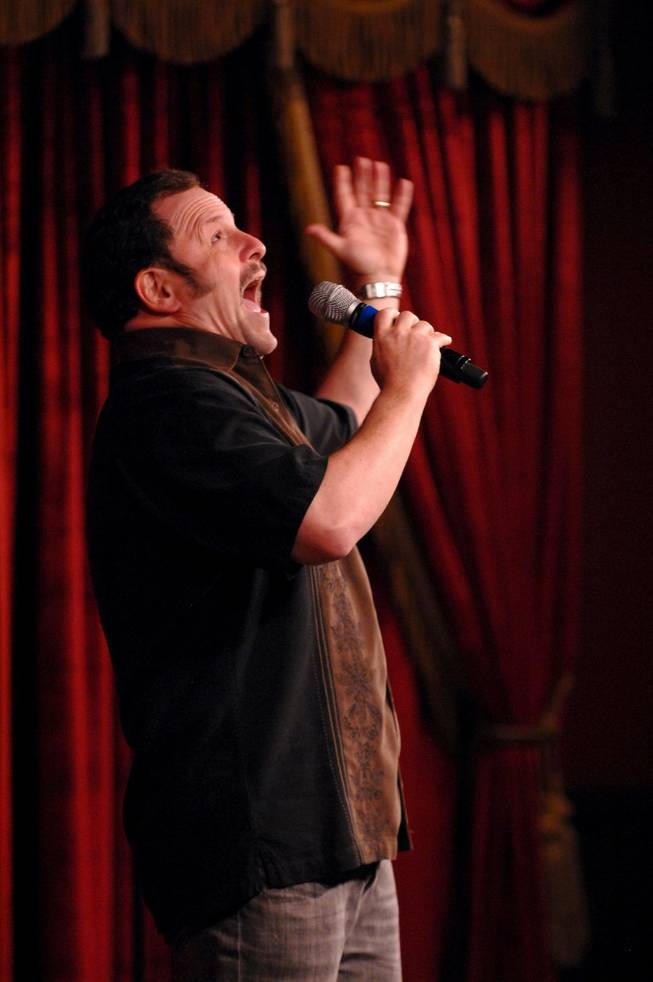 Jason Alexander makes a surprise appearance at Brad Garrett's Comedy Club in MGM Grand on Tuesday, July 10, 2012.