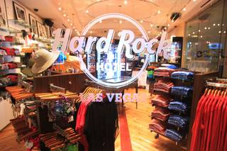 This is the new gift shop at the Hard Rock Wednesday, July 11, 2012.