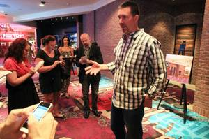 Paul Davis talks about Vinyl, the new lounge at the Hard Rock, Wednesday, July 11, 2012.