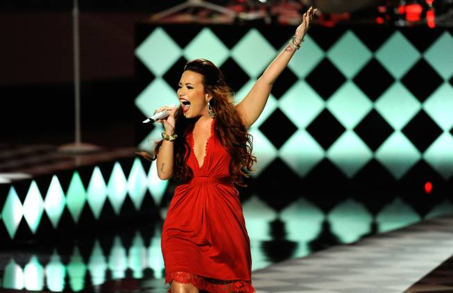 Demi Lovato perfoms during the People's Choice Awards on Wednesday, Jan. 11, 2012 in Los Angeles.