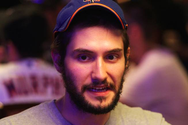 Leo Wolpert plays in the Main Event of the World Series of Poker at the Rio in Las Vegas on Thursday, July 12, 2012.