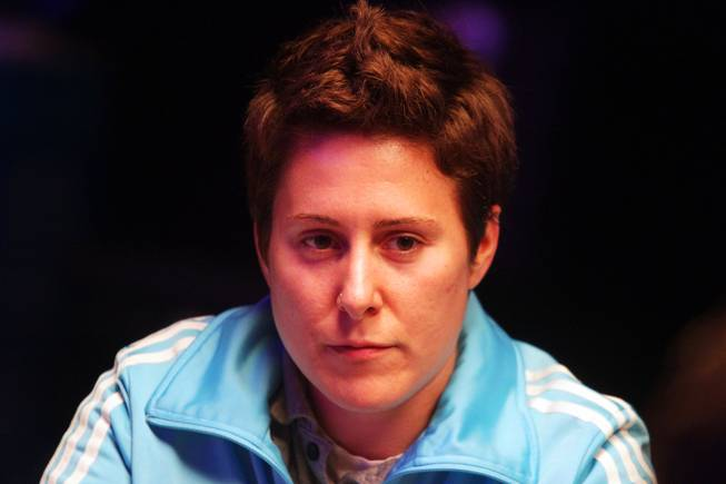 Vanessa Selbst plays in the Main Event of the World Series of Poker at the Rio in Las Vegas on Thursday, July 12, 2012.