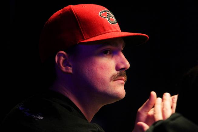 Eric Baldwin plays in the Main Event of the World Series of Poker at the Rio in Las Vegas on Thursday, July 12, 2012.