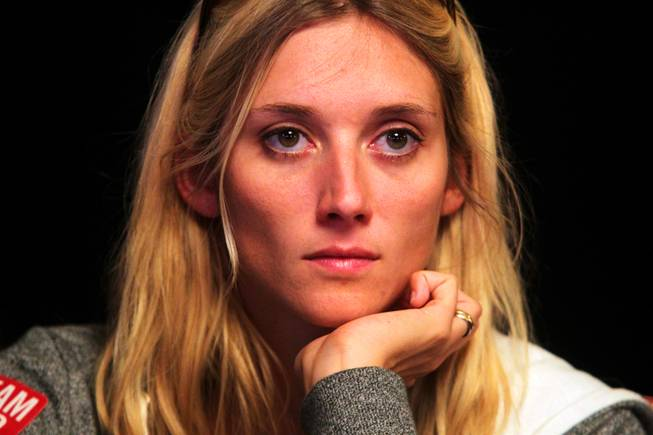 Gaelle Baumann plays in the Main Event of the World Series of Poker at the Rio in Las Vegas on Thursday, July 12, 2012.