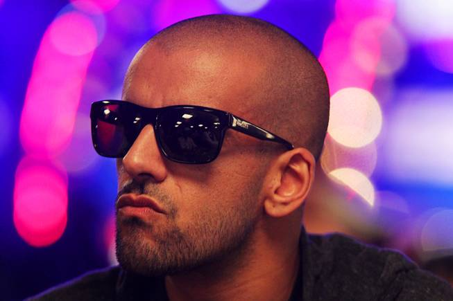 Ronnie Bardah plays in the Main Event of the World Series of Poker at the Rio in Las Vegas on Thursday, July 12, 2012.