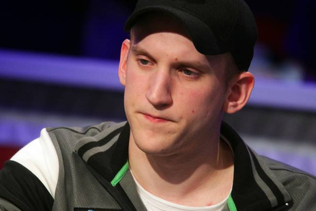 Jason Somerville plays in the Main Event of the World Series of Poker at the Rio in Las Vegas on Thursday, July 12, 2012.