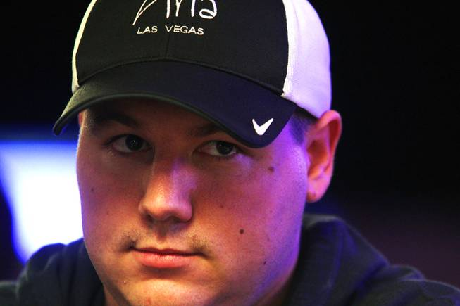 Shaun Deeb plays in the Main Event of the World Series of Poker at the Rio in Las Vegas on Thursday, July 12, 2012.