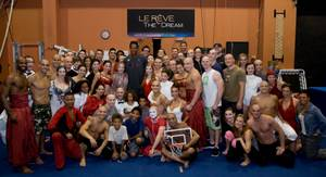 "Scottie Pippen and his family at ""Le Reve -- the Dream"" at the Wynn on Tuesday, July 9, 2012."
