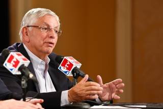 NBA Commissioner David Stern speaks to the press at Encore Las Vegas, Thursday July 19, 2012.