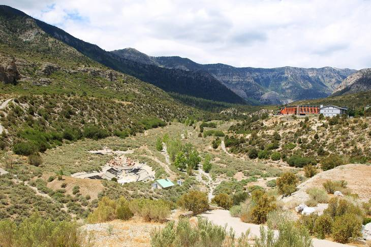 The Resort on Mount Charleston stands over what used to be a golf course Friday, July 20, 2012.
