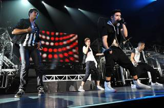 Big Time Rush performs at Mandalay Bay Events Center on Saturday, July 21, 2012.
