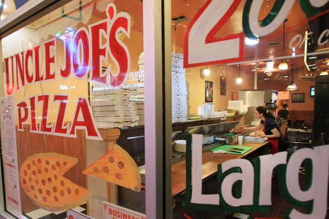Longtime Fremont Street eatery Uncle Joe's Pizza is seen Tuesday, July 24, 2012.
