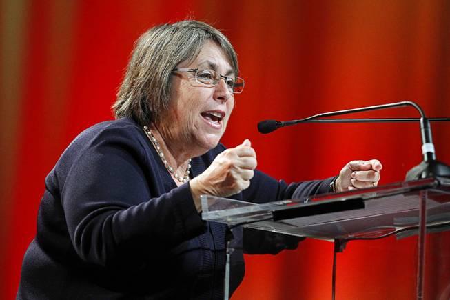 U.S. Under Secretary of Education Martha Kanter delivers a keynote address ...