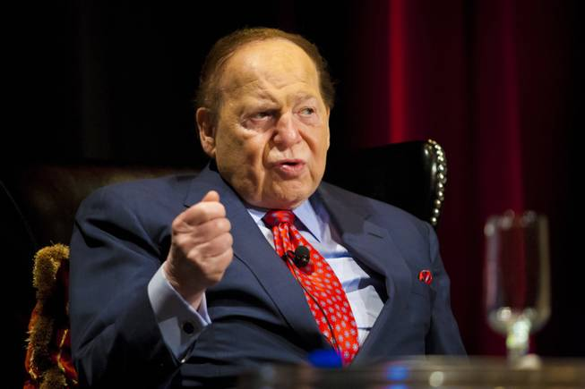 Las Vegas Sands CEO and Chairman Sheldon Adelson, shown in this April 26, 2012, file photo, is backing a Republican group trying to persuade Jewish voters in battleground states to support presidential candidate Mitt Romney.