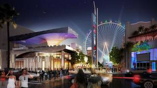 This is an artist's rendering of the High Roller and Linq project.