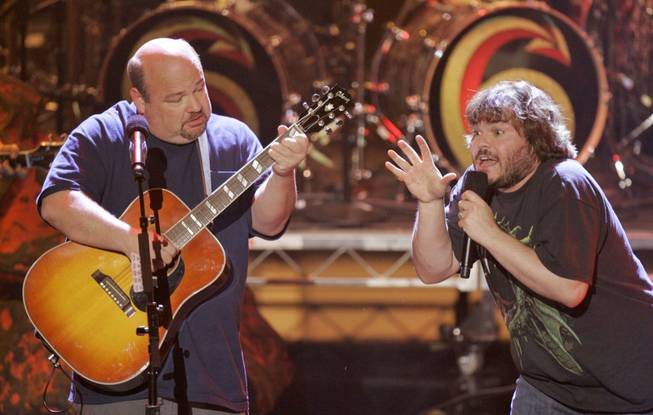 Tenacious D performs at the 2006 American Music Awards in Los Angeles, on Tuesday, Nov. 21, 2006.