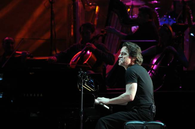 Composer Yanni performs for students at GRAMMY Soundchecks in The Nokia Theater on Tuesday, June 23, 2009, in Los Angeles. The GRAMMY Soundchecks engage students in conversation with the artists and their touring staff about the specifics of their careers and the necessary preparation for success.