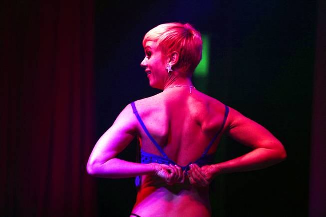 Tonya Kay performs in The Lalas Burlesque Show in the Lounge at the Palms in Las Vegas on Friday, July 27, 2012.