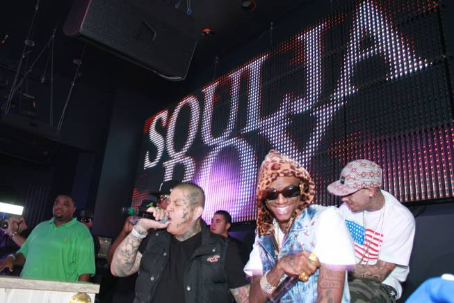 Soulja Boy performs at Chateau Nightclub & Gardens in the ...