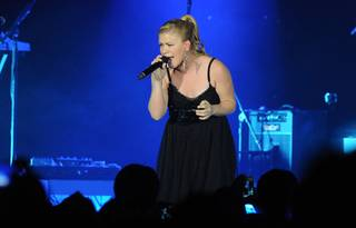 Kelly Clarkson performs at Chelsea Ballroom in the Cosmopolitan of Las Vegas on Friday, Jan. 27, 2012.