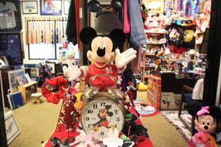 A view of the Disney memorabilia collection at Justice Entertainment Friday, July 27, 2012.