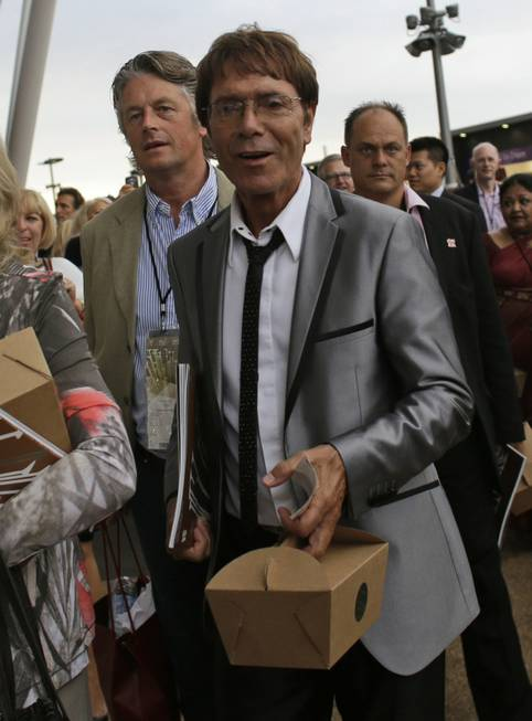 Sir Cliff Richard arrives for the Opening Ceremony at the ...