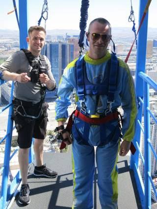 Jack Colton at SkyJump in the Stratosphere.