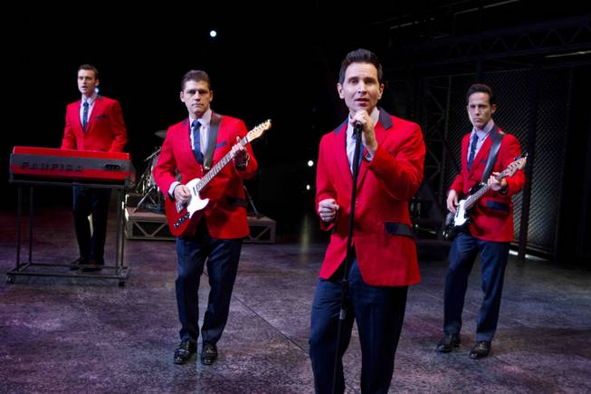 """Jersey Boys"" cast members Rob Marnell, Deven May, Travis Cloer and Jeff Leibow at the Paris."