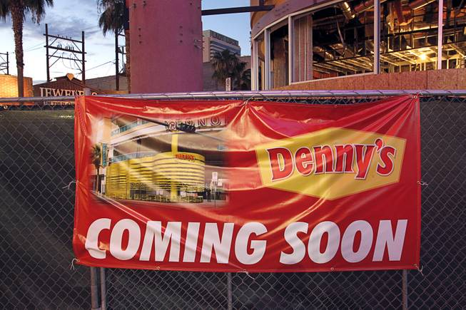 Denny's has leased 6,400 square feet at the Neonopolis mall in downtown Las Vegas, pictured here on Wednesday, Aug. 1, 2012.
