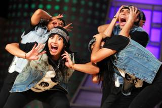 The Mexican crew Neutral Zone performs in the varsity division's preliminary round at the World Hip-Hop Dance Championship at Red Rock Resort in Las Vegas on Wednesday, Aug. 1, 2012.