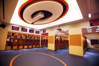 The new Fertitta Athletic Training Center at Bishop Gorman High School in Las Vegas on Thursday, August 2, 2012.