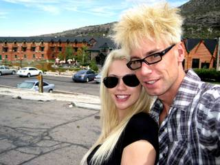 Murray Sawchuck and Chloe Crawford's honeymoon on Mount Charleston.
