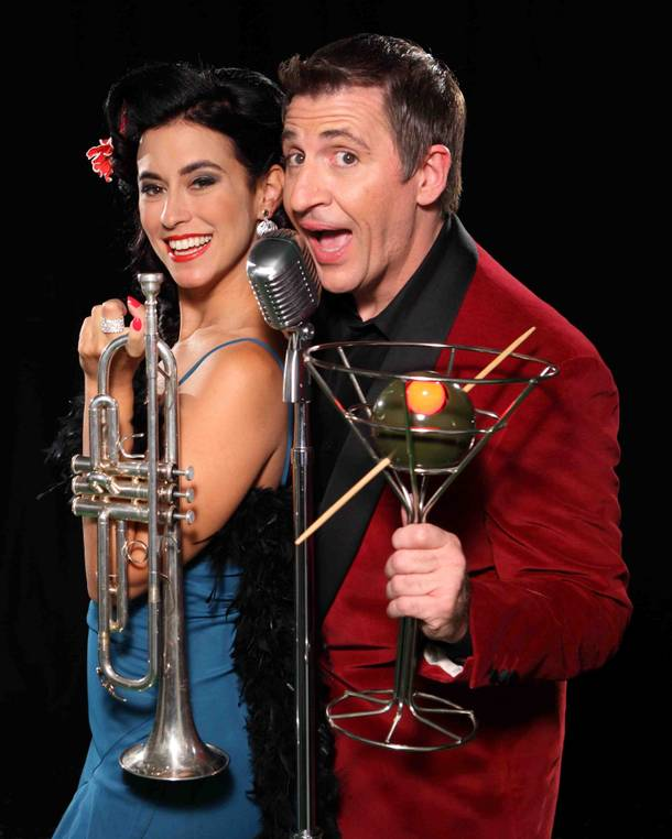 Sarah Spiegel and Louis Prima Jr.