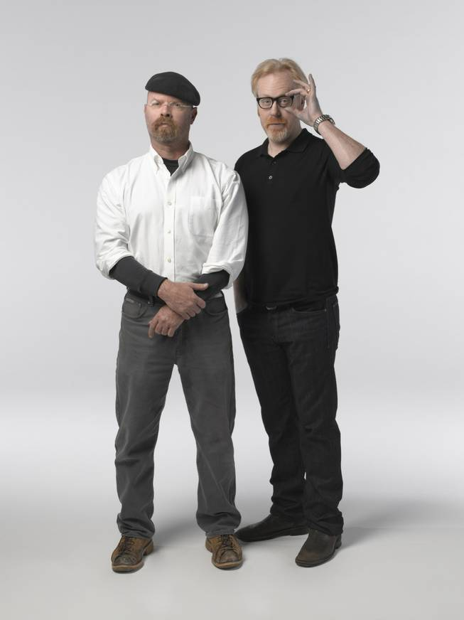 Jamie Hyneman and Adam Savage from MythBusters.
