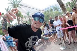 Vanilla Ice at the Flamingo's Go Pool and Harrah's Carnaval Court on Saturday, Aug. 4, 2012.