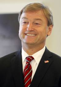 Sen. Dean Heller is shown during a dedication ceremony for the VA Southern Nevada Healthcare System Las Vegas Medical Center (VASNHS) in North Las Vegas Monday, August 6, 2012.