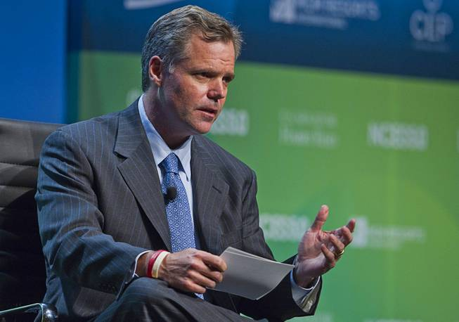 Jim Murren, chairman and CEO of MGM Resorts International, participates in a panel discussion during National Clean Energy Summit 5.0 on Tuesday, Aug. 7, 2012, at Bellagio.