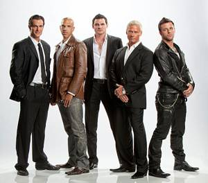 """Gigolos"" studs-for-hire Jimmy Dior, Vin Armani, Steven Gantt, Brace Land and Nick Hawk. Dior is not returning in Season 3, which begins Aug. 30, 2012."