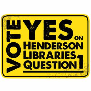 Alex Raffi and his staff at Imagine Communications put together a series of posters and signs pro bono to support the Henderson Library tax initiative, which will be on the November ballot. If the additional property tax is not approved the library district will close two branches.