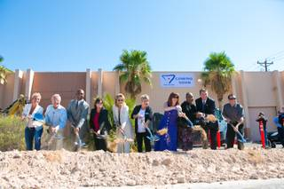 A groundbreaking ceramony at the new site of The Gay and Lesbian Community Center of Southern Nevada, Tuesday Aug. 7, 2012.