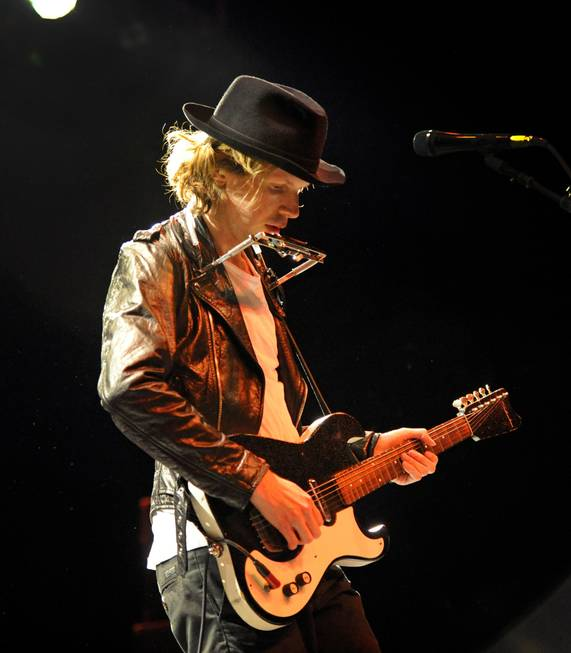 Beck performs in the Pearl at the Palms on Wednesday, ...