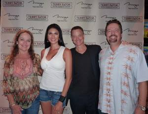 Moira Harris, Taylor Makakoa, Gary Sinise and Terry Fator at the Mirage.