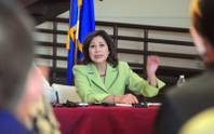 Secretary of Labor Hilda Solis speaks about the importance of education and job training in diversifying Nevada's economy during a public forum held Thursday, Aug. 9, 2012, at the Andre Agassi College Preparatory Academy near North Las Vegas.