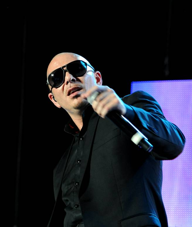 Pitbull performs at Red Rock Resort on Friday, Aug. 10, 2012.
