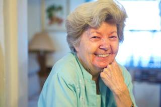 Jean Bennett, a former assistant to Platters manager Buck Ram, is photographed in her home Friday, Aug. 10, 2012.