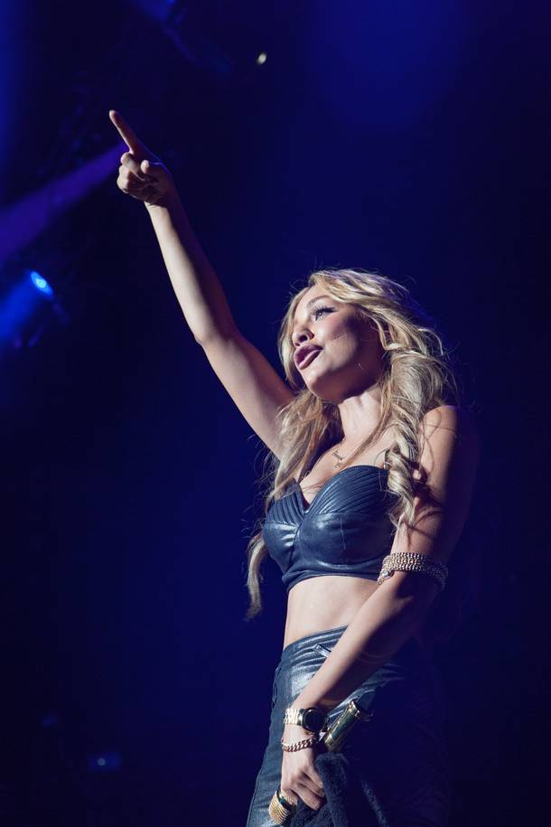 Havana Brown opens for Pitbull at Red Rock Resort on Friday, Aug. 10, 2012.